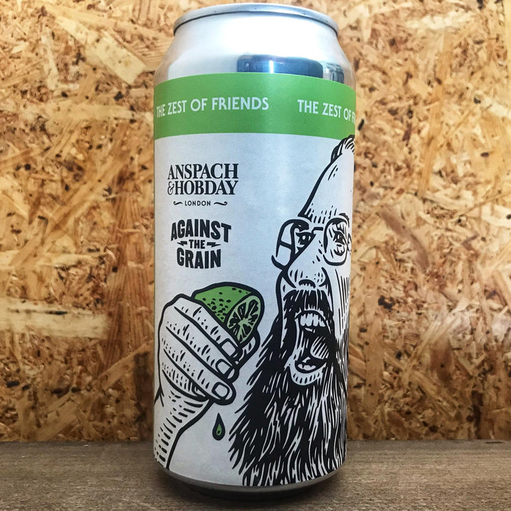 Anspach & Hobday x Against The Grain The Zest of Friends Lager 5.5% (440ml)