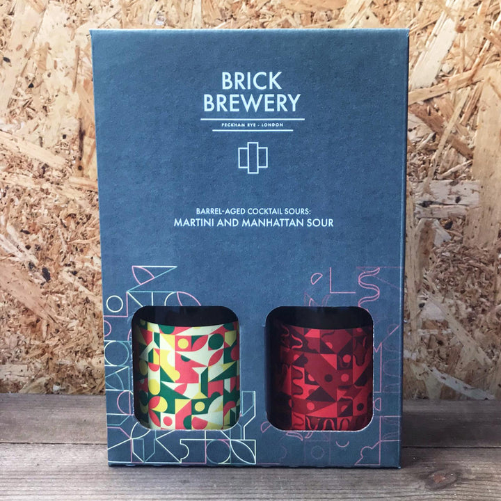 Brick BA Martini & Manhattan Sour Gift Box (2x330ml)