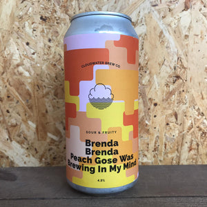 Cloudwater Brenda Brenda Peach Gose Was Brewing in my Mind 4.3% (440ml)