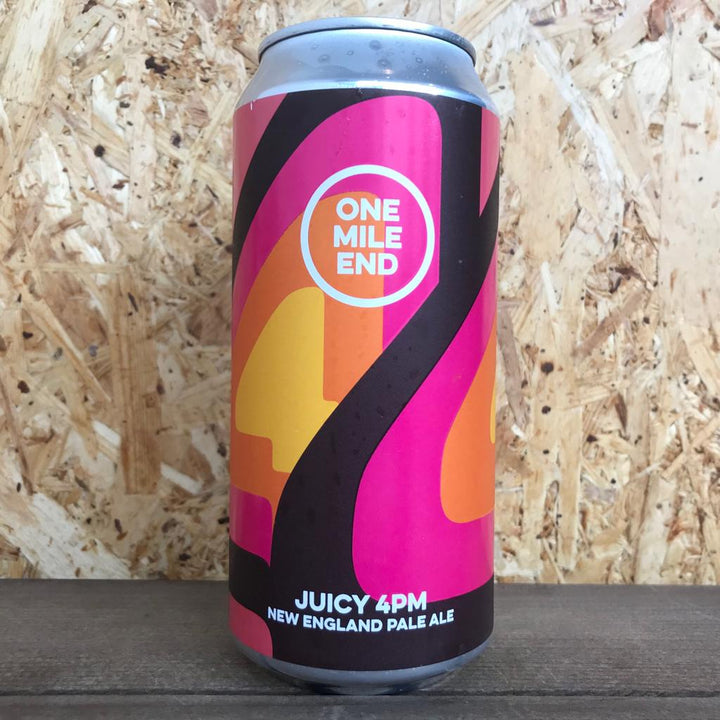 One Mile End Juicy 4PM NE Pale Ale 4.9% (440ml)