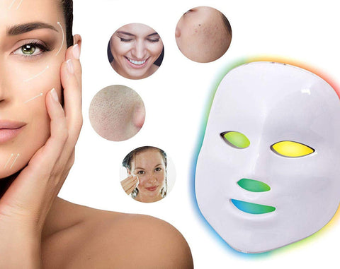 MaskPro Skin Rejuvenation LED Light Beads Therapy Facial Massager/Mask 7 Lights