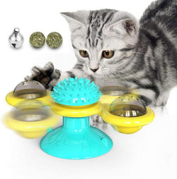 Turntable Teasing Slow Feeder Anxiety Reducing Interactive Cat Toys