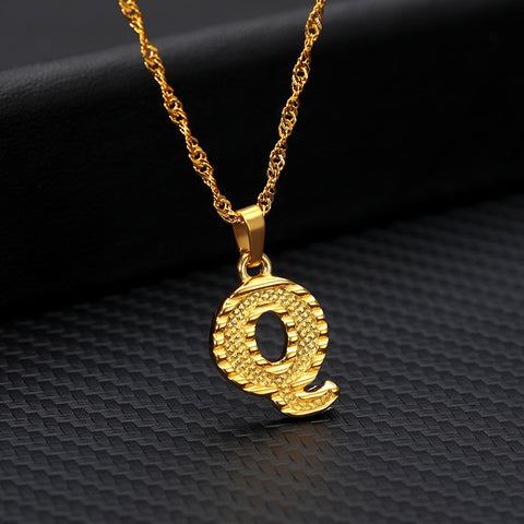 Simple Initial Pendant Necklace