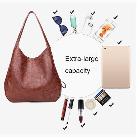 Ultimate Triple Compartment Shoulder Tote Bag