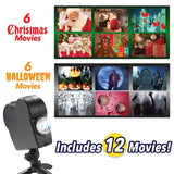 Halloween Christmas 12 Movies Laser Projector