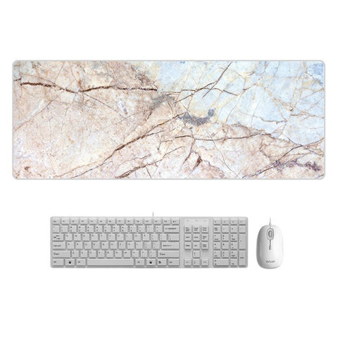 80x30cm Large Marble Desk Pad Mouse Gamer Desk Mat