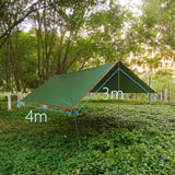 4x3m 3x3m Awning Waterproof Tarp Tent Shade Ultralight Garden Canopy