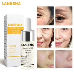 LANBENA 15ml Hyaluronic Acid Six Petides Collagen Face Serum Vitamin C Whitening Serum