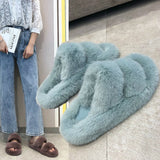 Fluffy SNUGGY SLIPPERS Slides