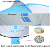 Automatic Beach Tent UV Protection Pop Up Tent