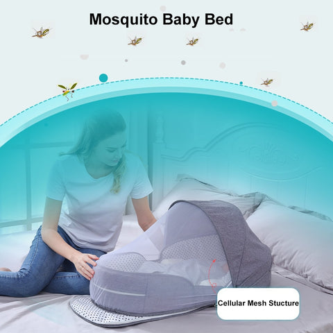 Foldable Portable Sleeping Baby Bed Crib Bag with Mosquito Nest