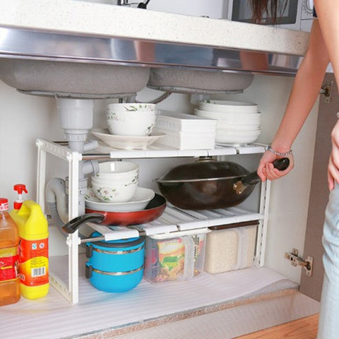 Undersink Adjustable Kitchen Storage Rack Organiser