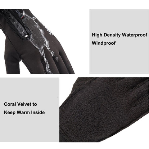 Cold-proof Ski Gloves Waterproof Winter Gloves Cycling Fluff Warm Gloves For Touchscreen