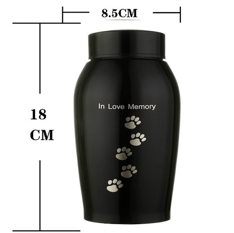 Unique Stainless Steel Pet Memorial Urns Ashes Keepsake
