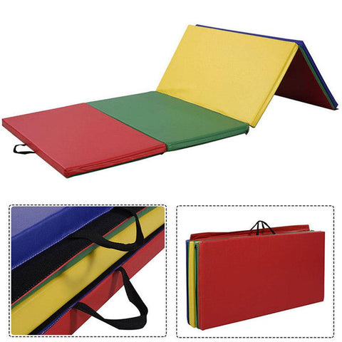 Non-slip Extra Thick Gym Yoga Foldable Mat Exercise Pad