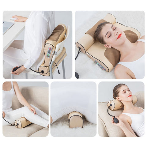 Wormwood Heated Therapy Kneading Neck Back and Shoulder Massager Pillow