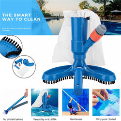 Powerful Pool Vacuum Cleaner Swimming Pool Vacuum Jet Sections Suction Tip Connector Inlet Portable Detachable Cleaning Tool