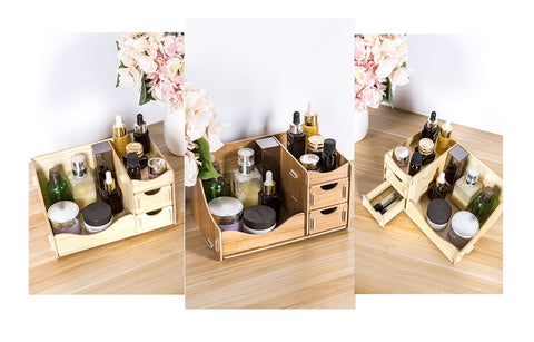 Eco Friendly Wooden Make up Cosmetics Organizer