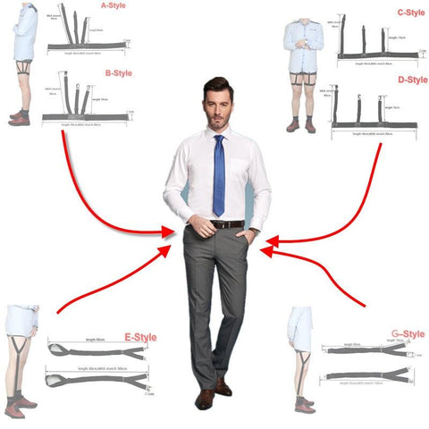 Tuck It In Shirt Suspenders Suit Office