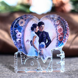 Romantic Crystal Love Heart Shape Photo Frame