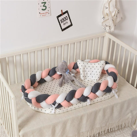 Handmade Luxury Portable Braided Baby Bed