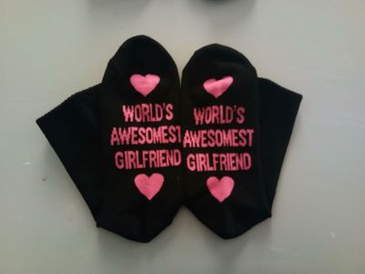 World's Awesome Boyfriend Girlfriend Socks