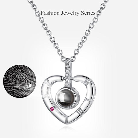 """I love you"" Projection Pendant Necklace"