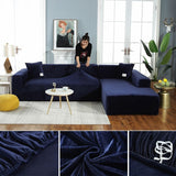 Magic Velvet Sofa Cover Stretchable with Pillowcases