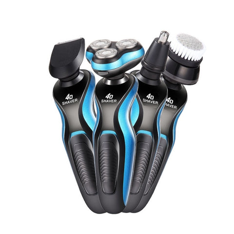 4 In 1 Electric Shaver Triple Blade Razor Men Clipper Rechargeable