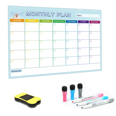 A3 Monthly Planner Magnetic Whiteboard Message Board For Home Schooling
