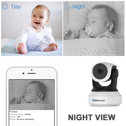 Vstarcam C7824WIP Baby Monitor WIFI 2 way audio smart camera with motion detection