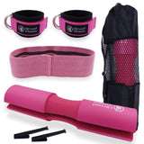 Barbell Cushion Pad with Ankle Strap and Hip Band Gym Home Workout Set
