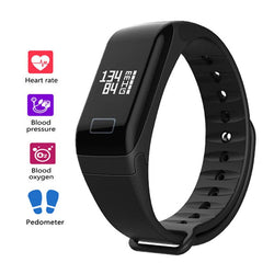 Smart Health Watch Monitor Heart Rate BP Oximeter Pedometer
