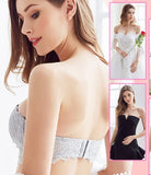 Invisible Lace Strapless Drawstring Bandeau Bra