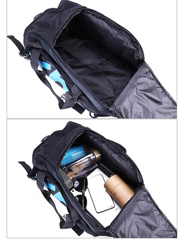 Sports Gym Bag with a hidden shoes pouch