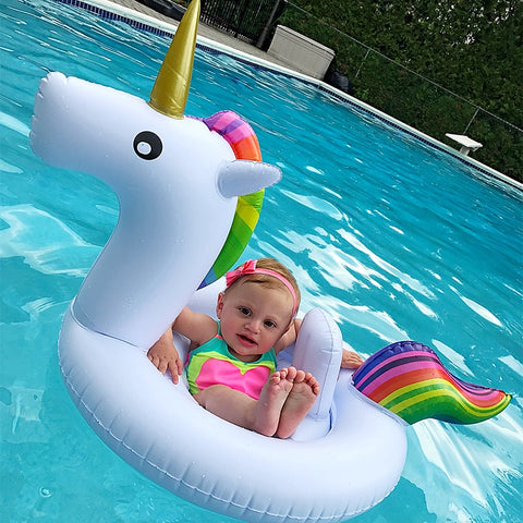 Inflatable Baby Flamingo Float Swimming Ring Unicorn