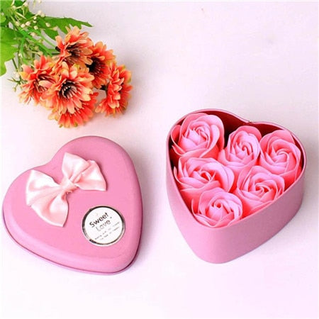 Heart Scented Bath Petal Rose Gift Box