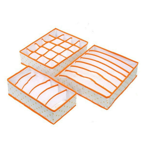 3PCS/SET Foldable Clothes Accessories  Organiser Dividers Case