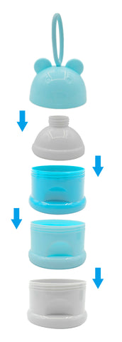 3 layer Frog Portable Baby Food Weaning Storage Box