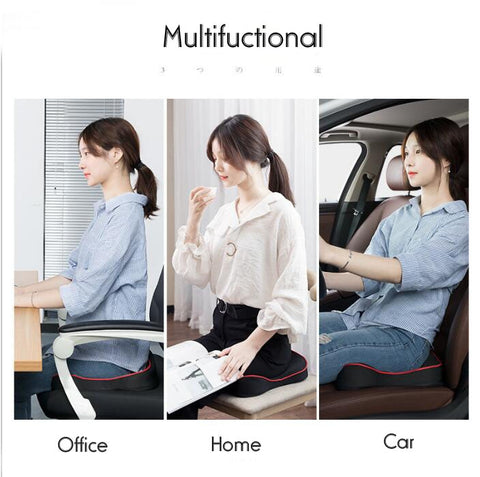 Premium Memory Foam Seat Cushion for Coccyx Orthopedic Sciatica Lower Back Pain Relief