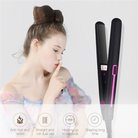 Mini Professional 2 in 1 Portable Hair Curler Hair Straightener
