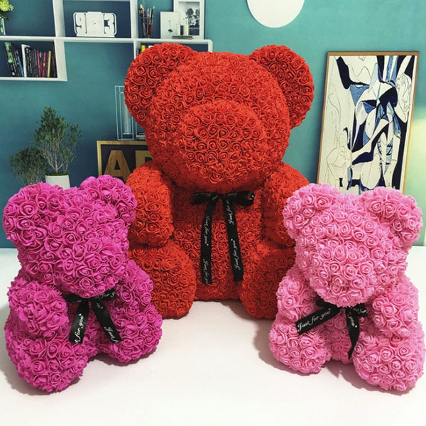Handmade Luxury Rose Bear Gift