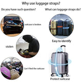 Extra Strong Adjustable Travel Luggage Straps Belt