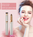 Mini Electric Hair Trimmer Pen for Flawless Brows with built-in light