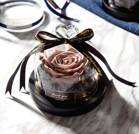 Beauty And The Beast Preserved Rose In Glass Dome  Valentines Day Gift