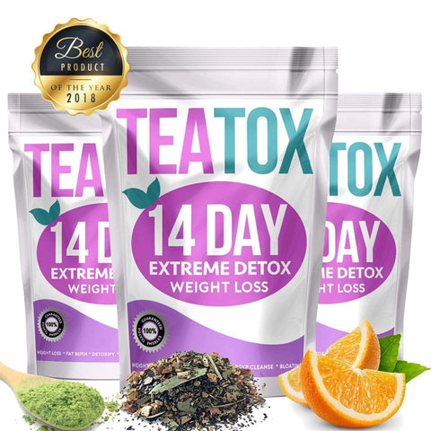 Natural Fat Burning Extreme Weight Loss Detox Tea 14 Days Teatox