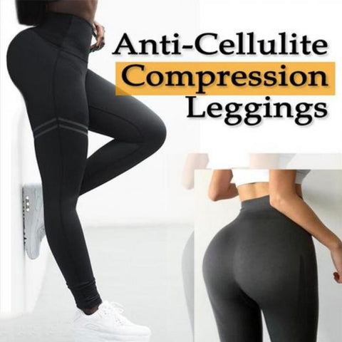 High Waist Anti-Cellulite Compression Slim Leggings