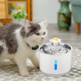 2.4L Automatic Cat Water Fountain LED