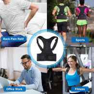 As Featured on Daily Mail Magnetic Therapy Back Posture Corrector Girdle