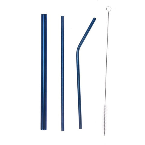 Reusable Stainless Steel Straws with FREE Cleaning Brush and Travel Bag